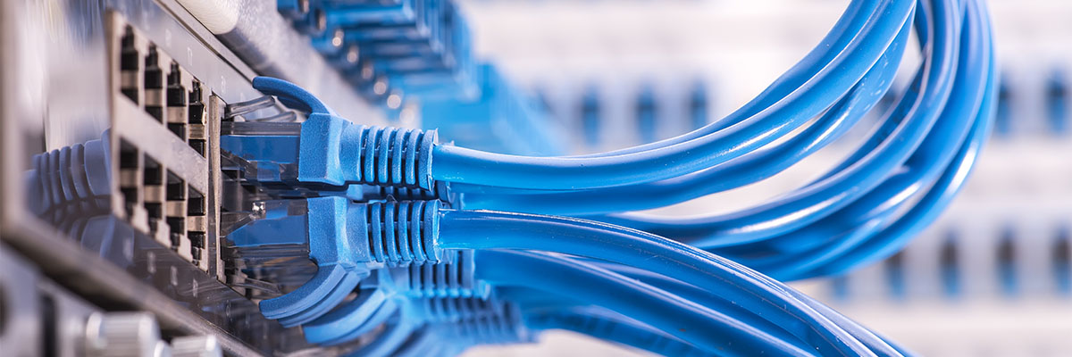Data network patch panel wiring